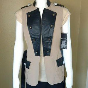 NWT Pamela McCoy Military Style Vest XXS